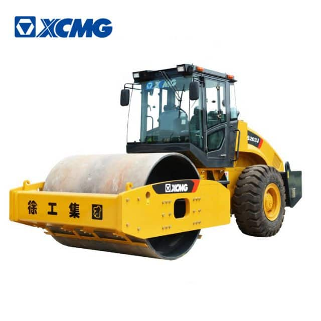 XCMG 20 ton single drum vibratory roller compactor XS203J road roller machine price