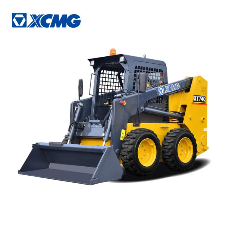XCMG mini skid steer loader XT740 small wheel loader with attachment