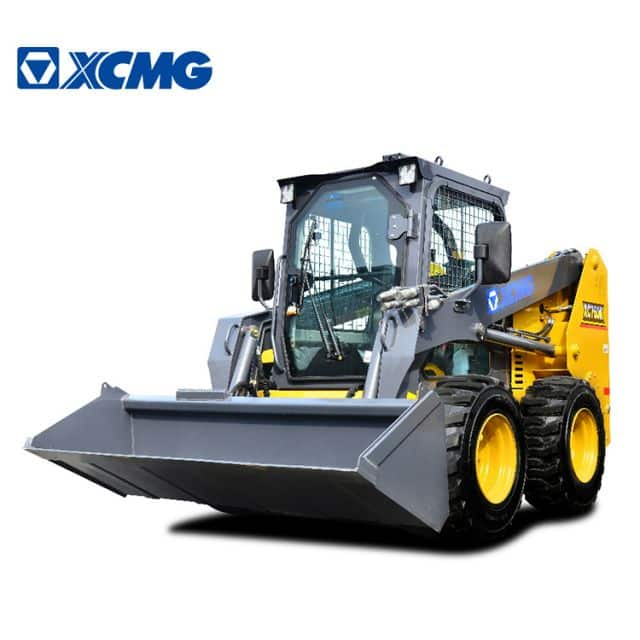 XCMG high quality skid steer loader XT760 China 1 ton mini wheel skid steer loader