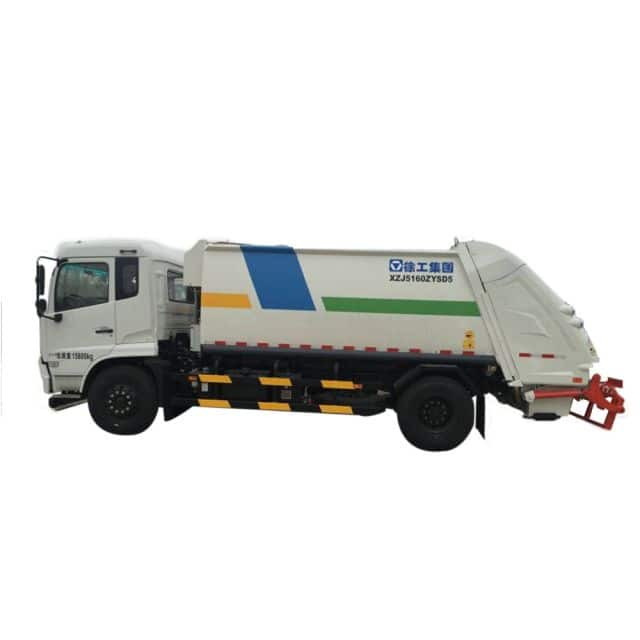 XCMG Official Manufacturer 8 tons Compressed Garbagetruck XZJ5160ZYS for sale