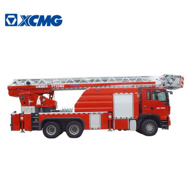 XCMG 32m 6x4 fire truck YT32M2 turntable ladder ladder with howo chassis price