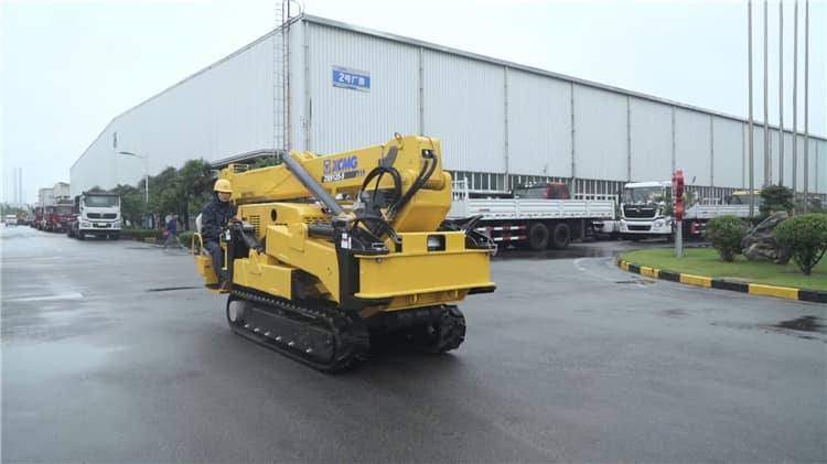 XCMG construction spider crane ZQS125-5 small spider lift truck crane for sale