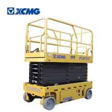 XCMG official 12m hydraulic drive self-propelled mobile scissor lift table GTJZ1212 aerial working platform for sale