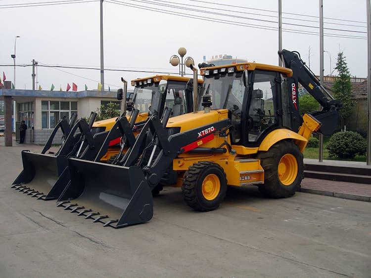 XCMG 3 ton backhoe loader XT870 Chinese small wheel back hoe loader