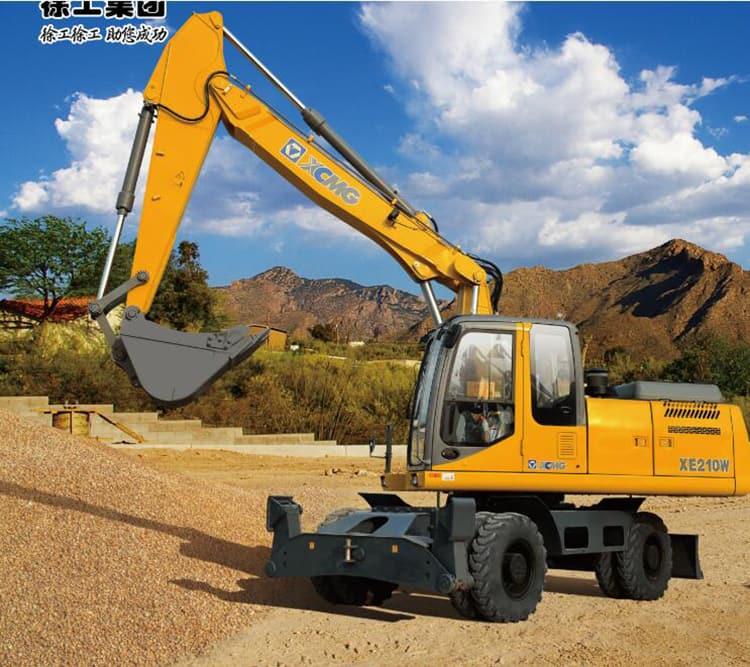 21 ton XCMG machinery XE210W wheel excavator price