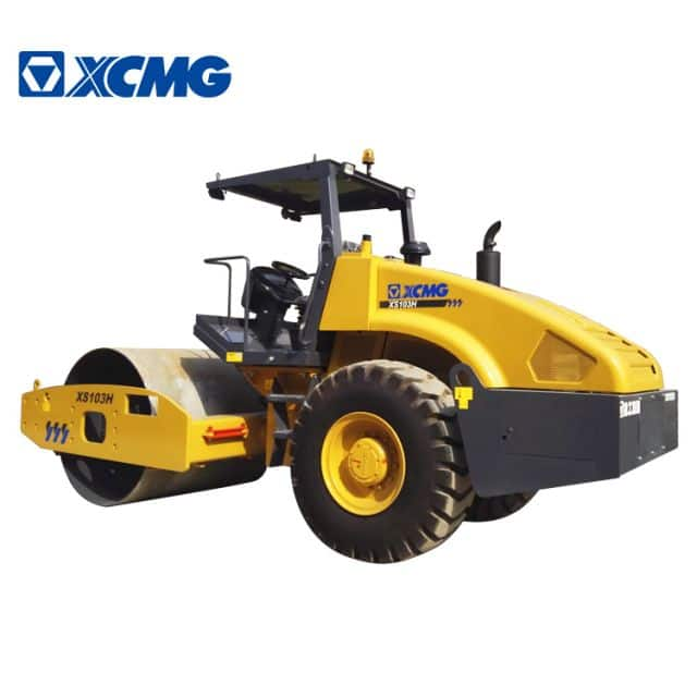 XCMG 10 ton vibratory road roller XS103H earth compactor machine road roller for sale