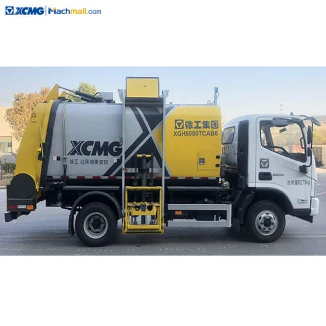 China XCMG 5 cubic meter garbage disposal truck For Sale