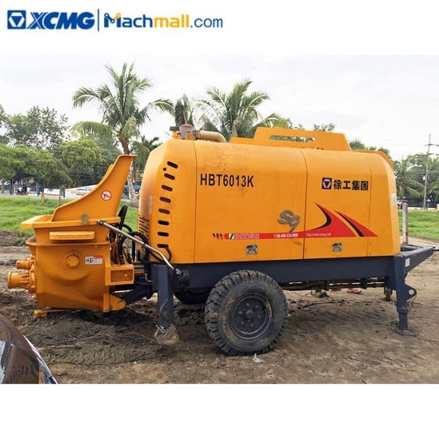XCMG Official concrete pump trailer HBT6013K 40M3/H Productivity price