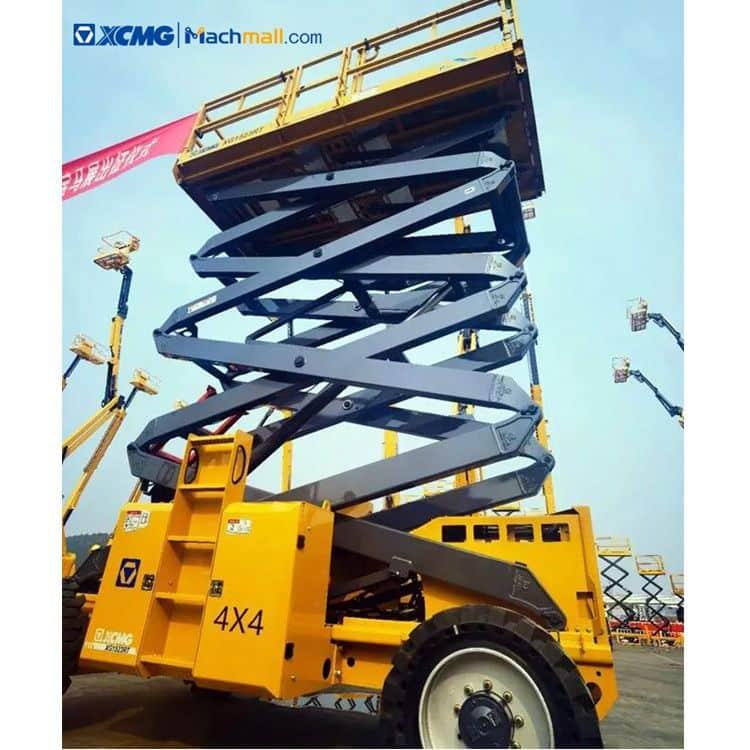 XCMG 15m 680kg diesel rough terrain scissor lift platform XG1523RT price