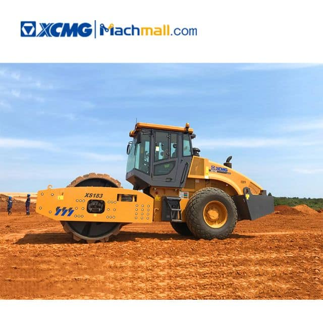 XCMG factory 18 ton road roller XS183 with bump wheel for sale