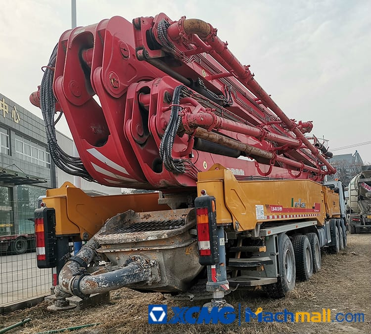 XCMG Machinery 75m HB75 Used Truck Mount Concrete Pump For Sale