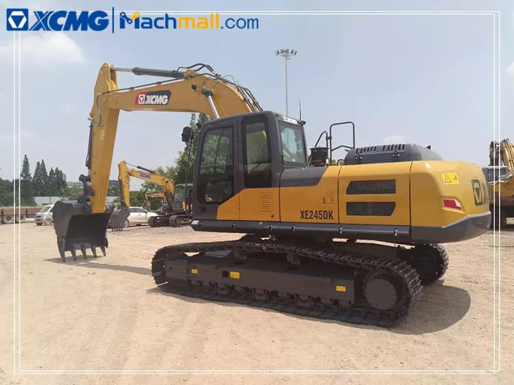 China middle excavator XCMG XE245DK MAX hydraulic excavator for sale