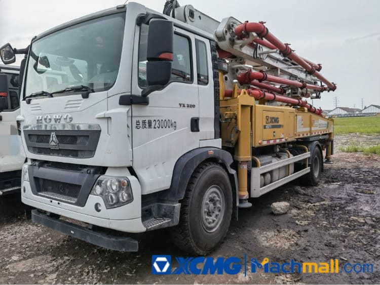 China XCMG 37m Used Concrete Pump Truck HB37 For Sale