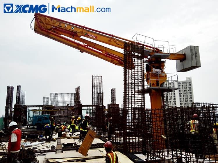 XCMG mobile concrete placing boom 28 meters radius HGP28 price