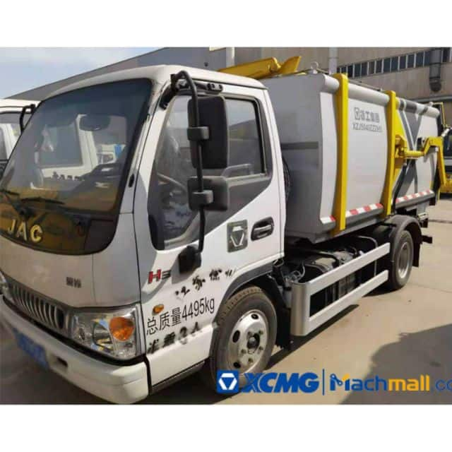 China XCMG 5 Cubic Meter Used Dump Garbage Truck For Sale