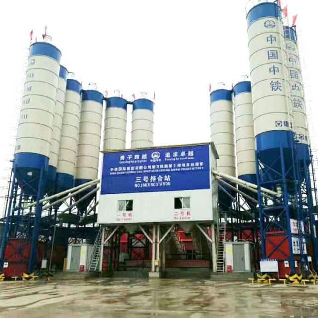 XCMG official heavy concrete batching plant HZS240V China big 240m3 new concrete mixer plant price