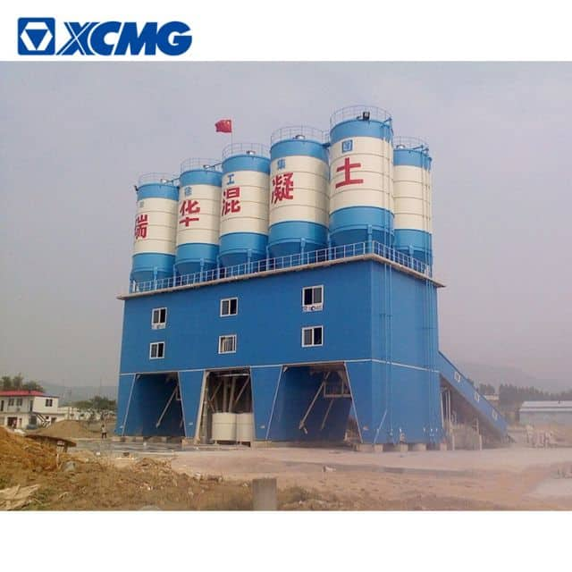 XCMG schwing concrete mixing plant HZS180V China big 180m3 new concrete batching plant price list