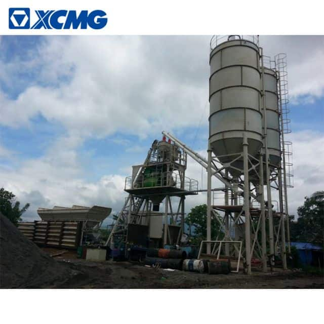 XCMG official mobile concrete batching plant HZS120VG China 120m3 concrete batching plant price list