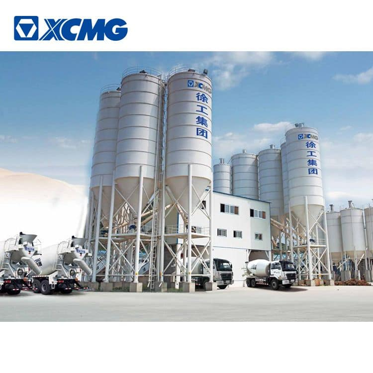 XCMG schwing 270m3 heavy concrete mixing plant HZS270V China mobile concrete batching plant price