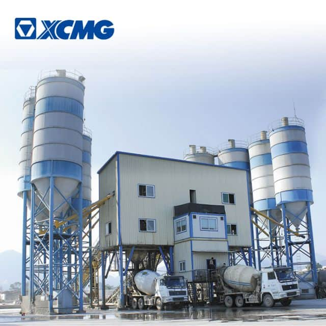 XCMG official big concrete batching plant HZS120V new 120m3 concrete mixing plant for sale