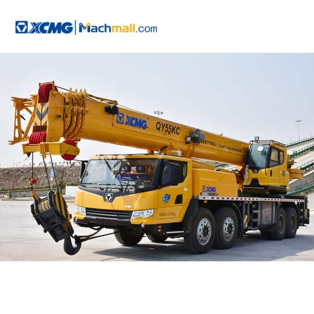 55 ton XCMG telescopic crane truck boom QY55KC for sale