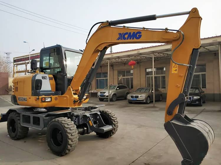 XCMG XE60WA 6 ton Small Wheeled Tractor Excavator For Sale