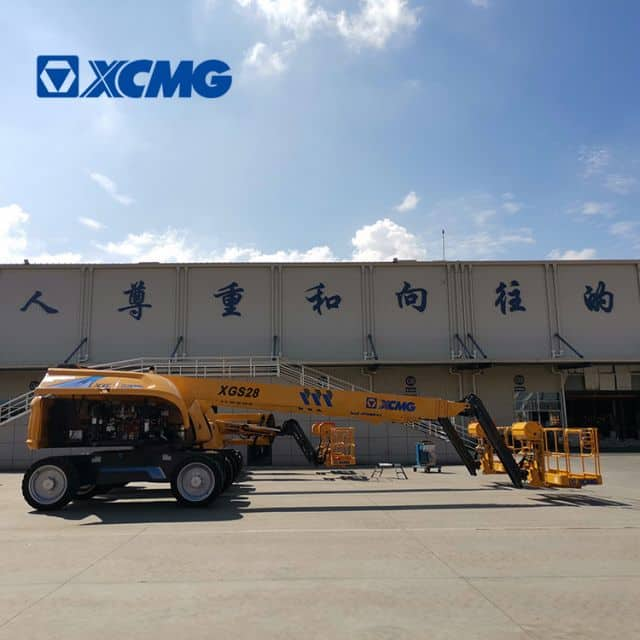 XCMG official XGS28 hydraulic manlift telescopic boom platform price