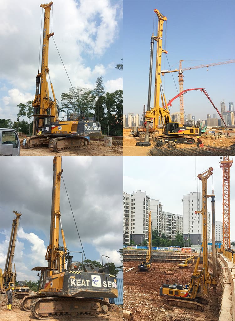XCMG official 150kN hydraulic rotary drilling rig XR150DIII price