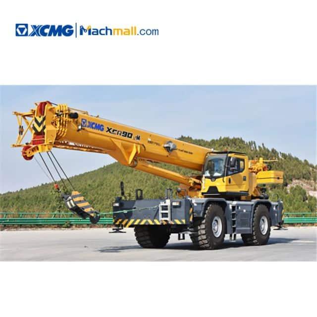 XCMG 90 ton hydraulic rough terrain cranes XCR90_M for sale