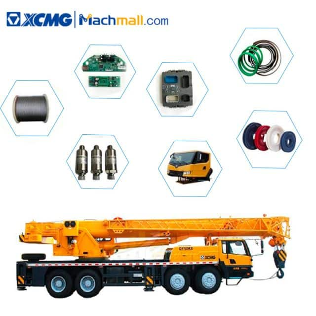 List of XCMG QY50KA truck crane consumable spare parts price