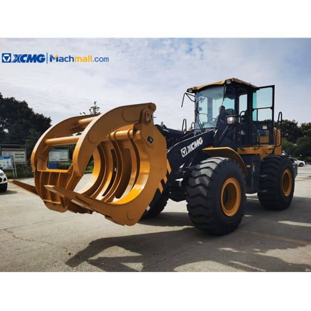 XCMG 3 5 7 8 10 ton Wheel Loader with Log Forks and Grapples for sale