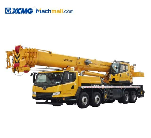 50 tons XCMG telescopic boom truck crane QY50KD price