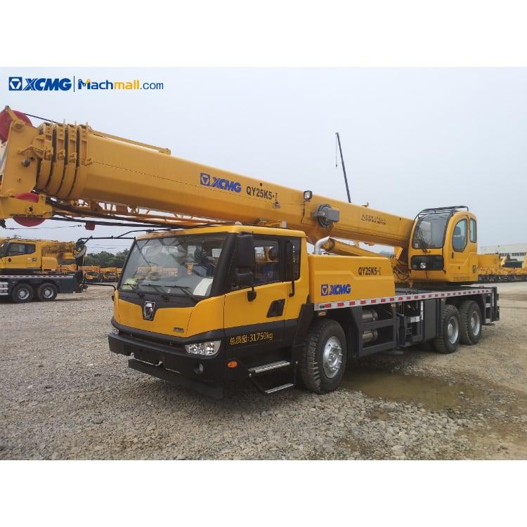 XCMG 25 ton crane 5 jib 48m truck crane QY25K5-I on sale