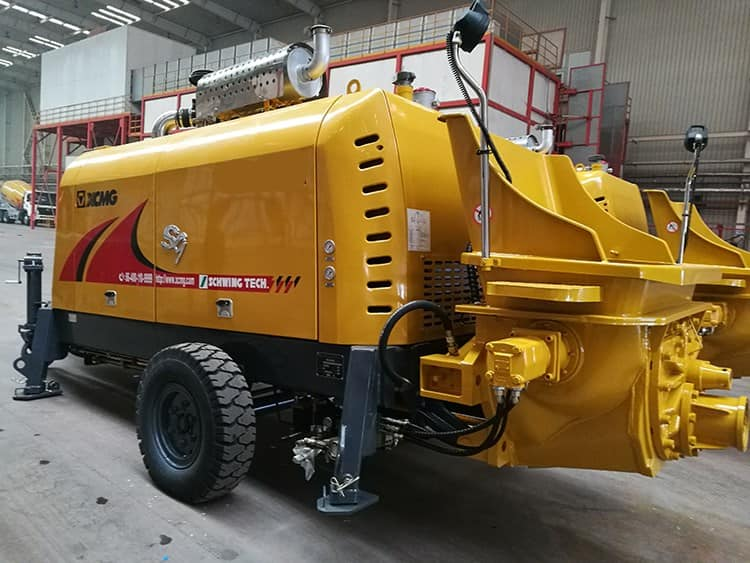 XCMG Official Concrete Machinery HBT5008V trailer concrete pump price for sale