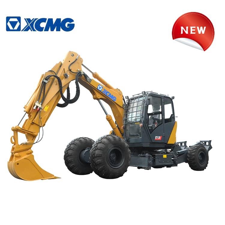 XCMG official manufacturer new mutifuctional walking excavator wheel excavator ET120 for sale