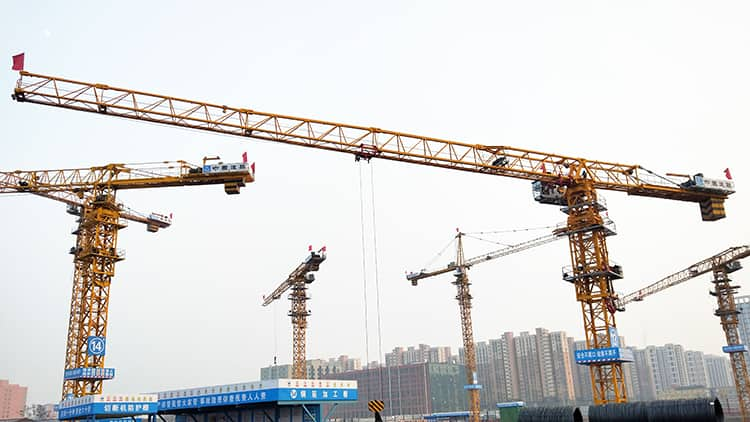 XCMG Official Construction Tower Crane with Spare Parts XCP330(7525-18) 18 Ton Top Less Tower Crane