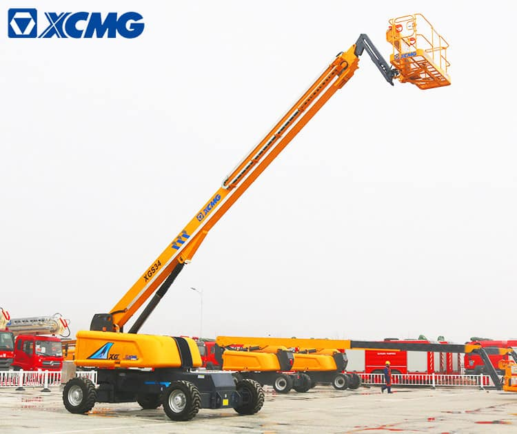 XCMG official 34m mobile self propelled telescopic boom lift XGS34 mobile telescopic boom lift price