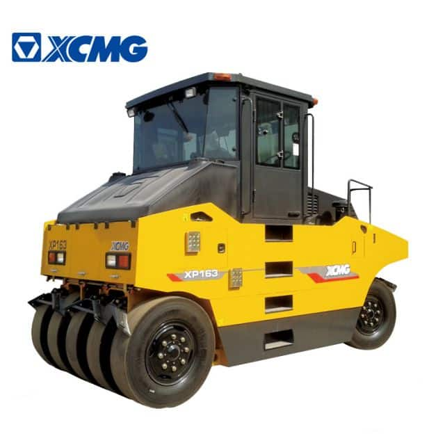 XCMG 16 ton pneumatic tyre roller XP163 static road roller for sale.