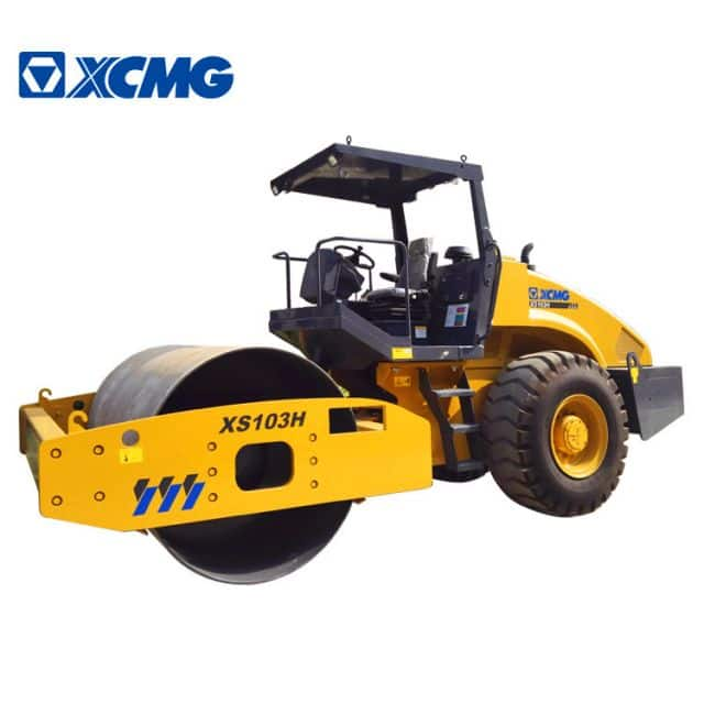 XCMG Official 10 Ton Small Road Rollers XS103H Single Drum Vibratory Road Roller for Sale