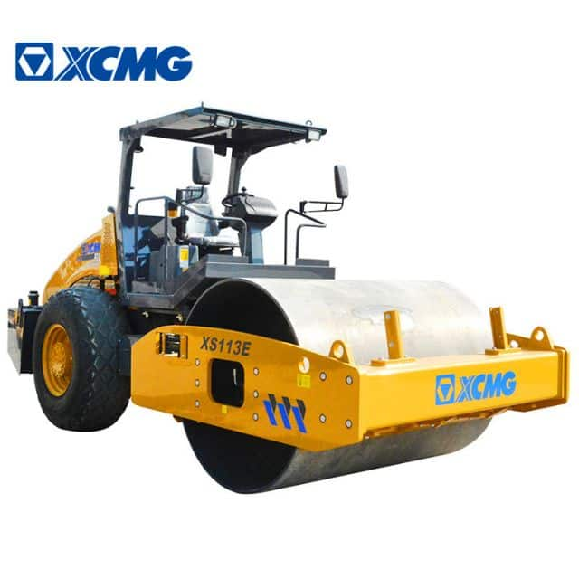 XCMG Official 10 Ton Mini Road Roller XS113E Cheap Single Drum Vibratory Road Roller Compactor Price
