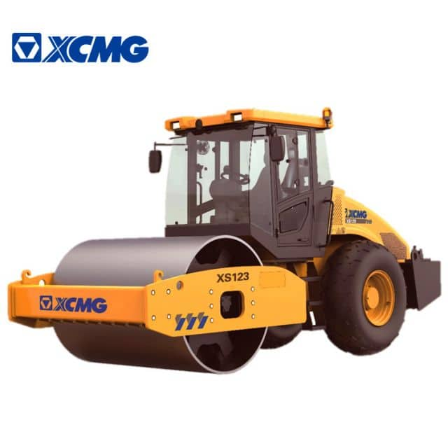 XCMG official mini road roller XS123 single drum vibratory road roller compactor machine price