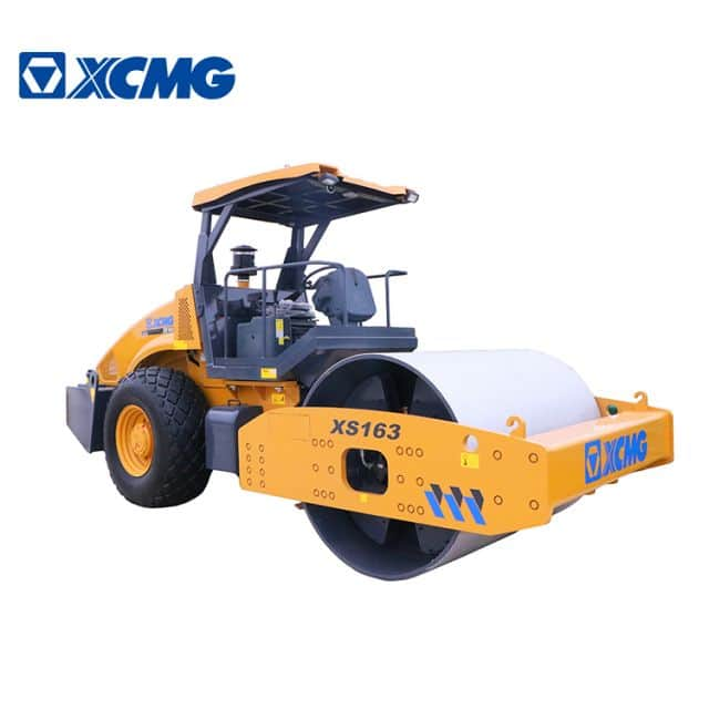 XCMG Official 16 ton Road Rollers XS163 China Single Drum Vibratory Road Roller Compactor for sale