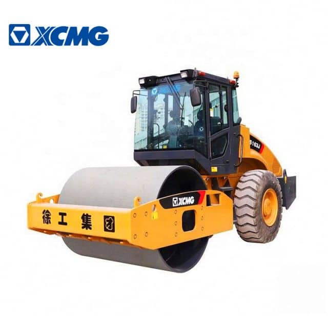 XCMG Official 16 ton vibratory road roller XS163J single drum road roller machine for sale