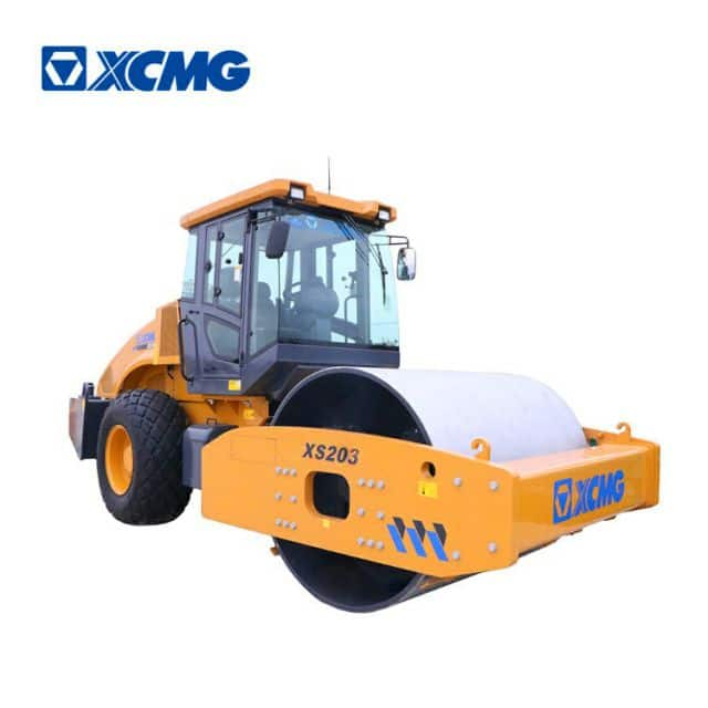 XCMG official 20 ton road roller compactor XS203 Chinese heavy duty vibratory road rollers for sale