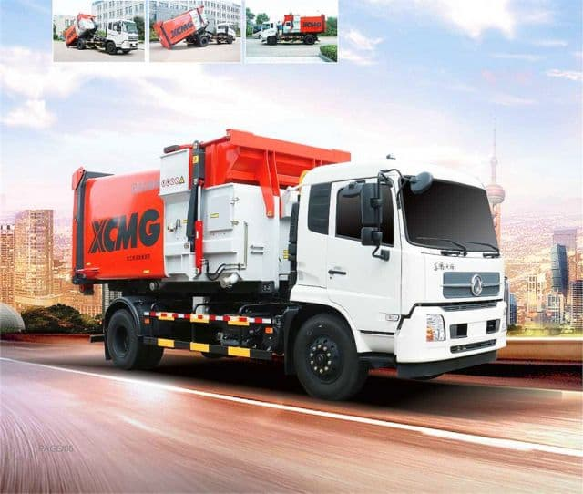 XCMG official new XZJ5160ZXXD5 detachable container garbage truck with DONGFENG chassis for sale