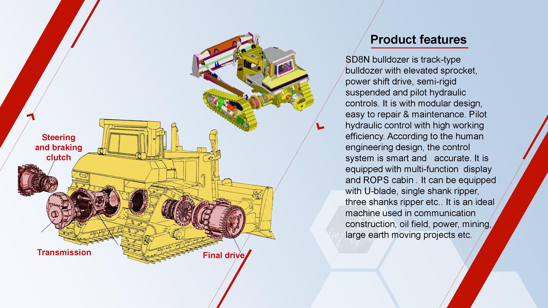 HBXG SD8N  Elevated sprocket series Bulldozer