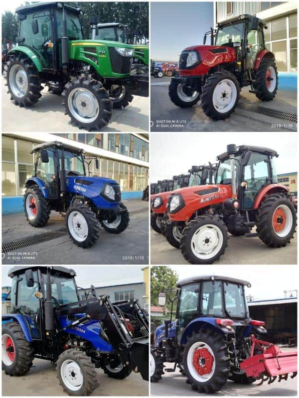 Factory Directly Supply 100HP 4WD Mini Garden Walking Agricultural Farm Tractor