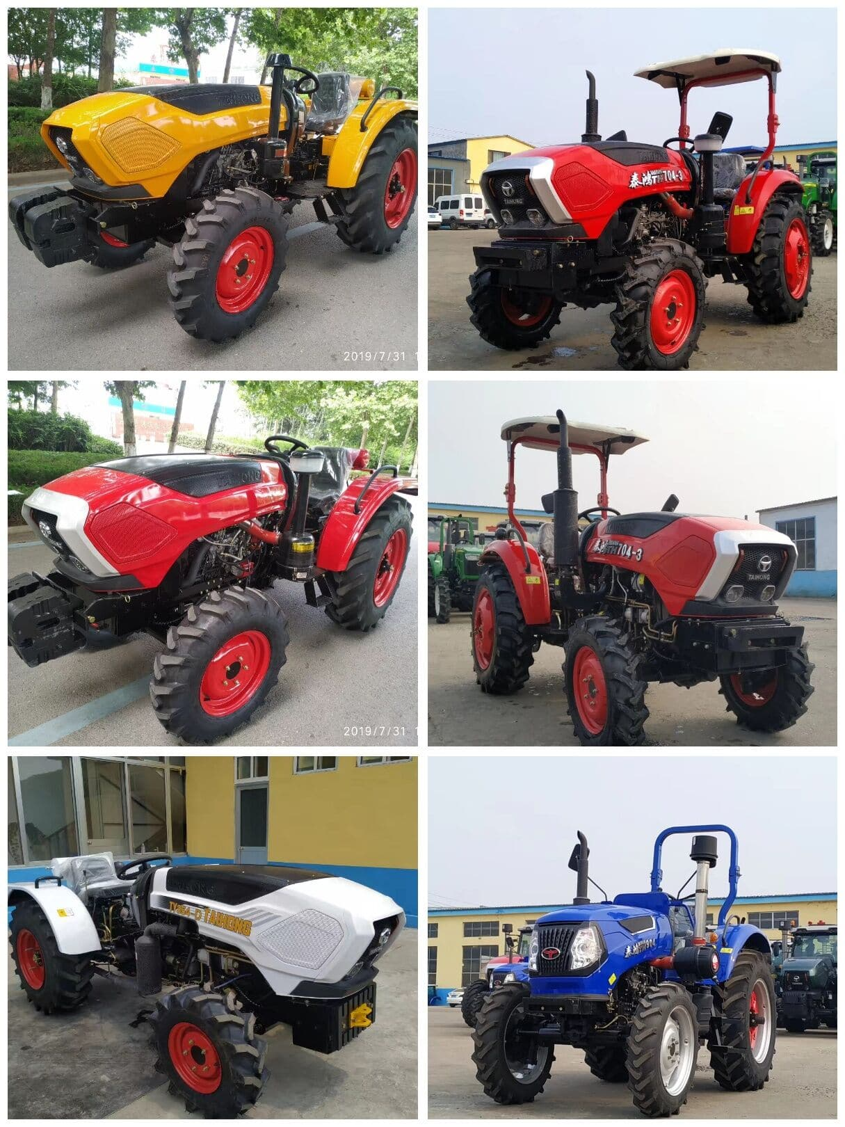 Factory Directly Supply 35HP 4WD Mini Garden Orchard Agricultural Farm Tractor