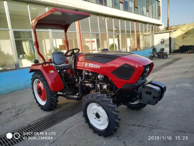 Made in China 55HP 4WD Walking Tractor Agricultural Machinery Mini Farm Tractors