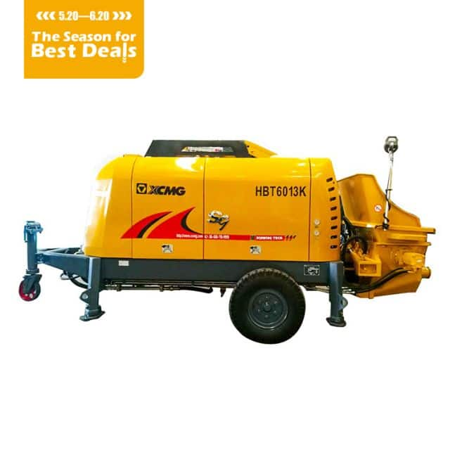 XCMG Offical HBT6013k  concrete trailer pump price for Indonesia
